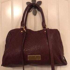 Marc Jacobs Merlot Leather Double Zip Purse Bag